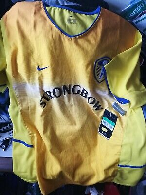 LEEDS united shirt 2002/4 in away at £22 bnwl NIKE IN SIZE 44/46 INCH COOL MOTIO