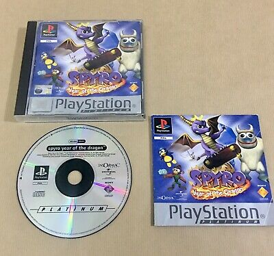 Spyro: Year of the Dragon PS1 - Platinum Good Playstation 1 Video Games