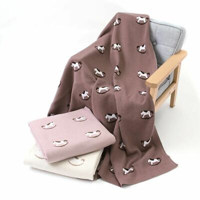 Baby Blanket Cotton Newborn Crib Bedding Cute Cartoon Infant Stroller 100*80cm