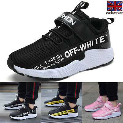 Kids Trainers Boys Girls Children Running Sports Mesh Shoes Casual Athletic Size