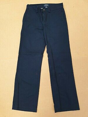 Ee929 Boys Polo Ralph Lauren Blue Straight Leg Cotton Chinos Trousers Age 10 Yrs