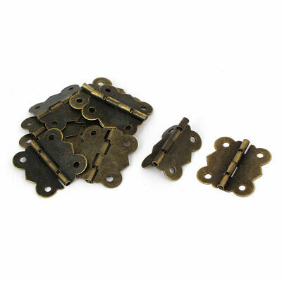 Wooden Case Retro Style Printing Bearing Door Hinge Bronze Tone 30mm Long 10pcs