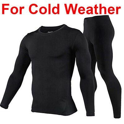 Mens Thermal Top and Bottom Set Long Johns Ski Clothes for Men Thermal Underwear