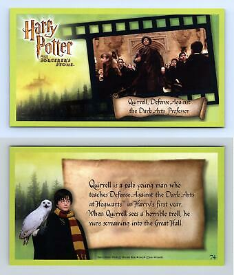 Quirrel ... #74 Harry Potter & The Sorcerer's Stone 2001 WOTC Trading Card