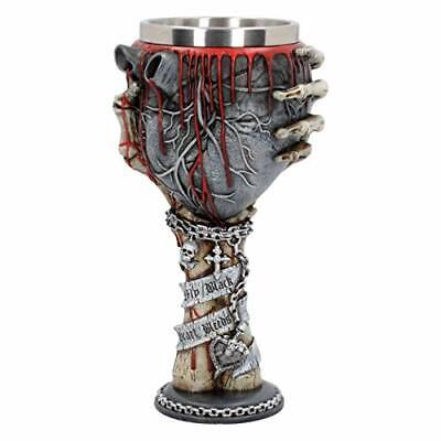 My Black Heart Bleeds Goblet - Collectible Gothic Bleeding Wine Glass Chalice