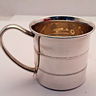Beaded Baby Cup Sterling Silver by Lunt Silversmiths USA (NEW)