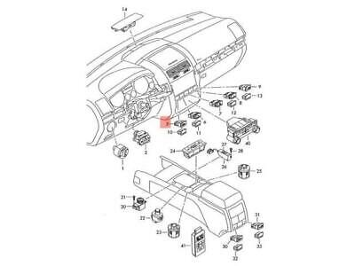 Genuine VW Switch For Lighting With Rheostat For Panel Lighting 323941531G 01