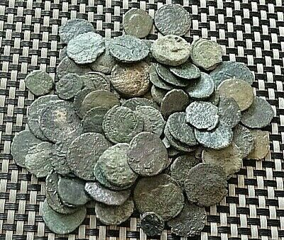 Lot Of 80 Ancient Roman / Greek / Byzantine Bronze Coins
