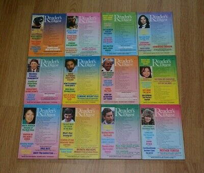 UK Readers Digest Magazines x10. Jan to Dec 1987 - Now Selling Individually