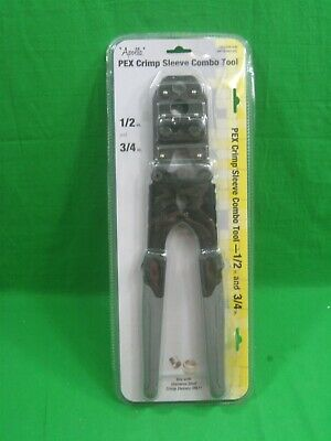 Apollo PEX Crimp Sleeve Combo Tool .5 In and .75 In New