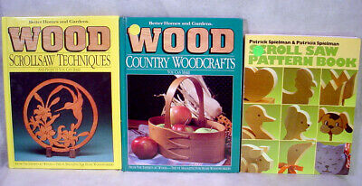 WOODWORKING Scroll Saw PROJECT Book Lot PATTERNS Country WOODCRAFT Plans DIY Toy