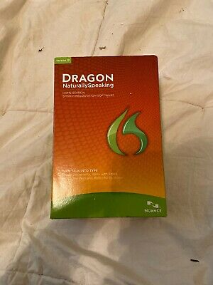 Nuance Dragon NaturallySpeaking Version 12 Home Edition *NEW OPEN BOX*