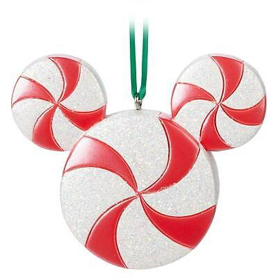 Disney Parks Mickey Icon Candy Cane Christmas Ornament New With Tag