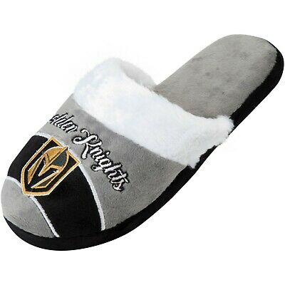Vegas Golden Knights Womens Slippers NFL Football License Closed Toed Hard Sole