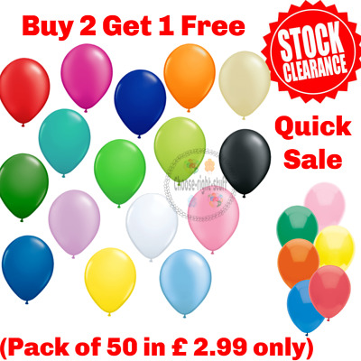 New 25 Latex PLAIN BALLOONS Party Birthday Wedding helium QUALITY Ballons Balons