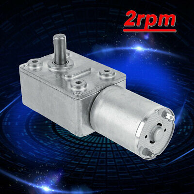 12V DC Reduction Motor 2RPM Reversible High Torque Turbo Worm Geared Motor USA