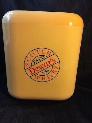 Vintage Retro Kitsch Dewars Scotch Bar ware Ice Bucket Man Cave Gift