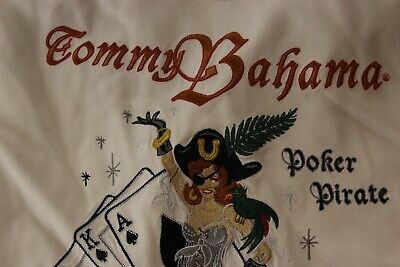 Tommy Bahama Silk Poker Pirate All hands On Deck CAMP SHIRT 5XB Length 34.5
