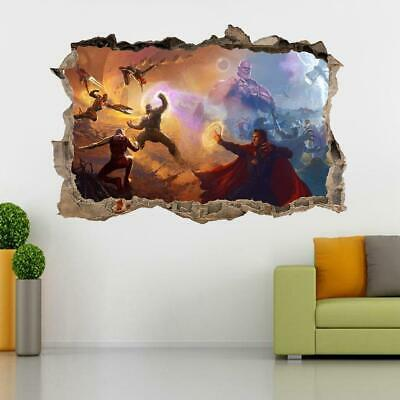 The Avengers 3D Smashed Wall Sticker Decal Art Mural Marvel Super Heroes J1416