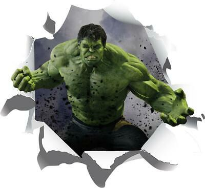 Ripped Paper Hulk Decal WALL STICKER Decor Kids Super Hero Marvel Movie WC222