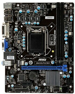 Gigabyte H61 Scheda madre LGA 1155 micro atx socket motherboard ram ddr3 per pc