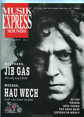 MUSIKEXPRESS SOUNDS Nr.11 NOVEMBER 1990 ZZ TOP,PRINCE,NEIL YOUNG,SISTERS OF MERC