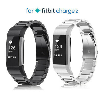 For Fitbit Charge 2 Replacement Wristband Strap Band Metal Wrist Bracelet US