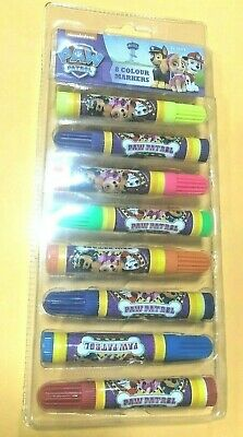 Kids Watercolour Textas - Non Toxic Washable Paw Patrol Markers in 8 Colours
