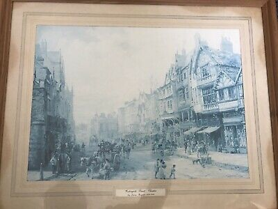 Watergate Street Chester by Louise Rayner Art  Old England UK 8x10 Print 0987