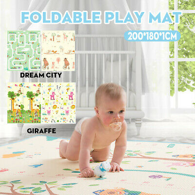 Foldable Nontoxic Baby Kids Play Mat Floor Rug Animal Picnic Crawling 2.0x1.8m
