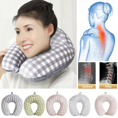 Memory Foam U Shaped Travel Pillow Neck Support Head Rest Airplane Cushion 40