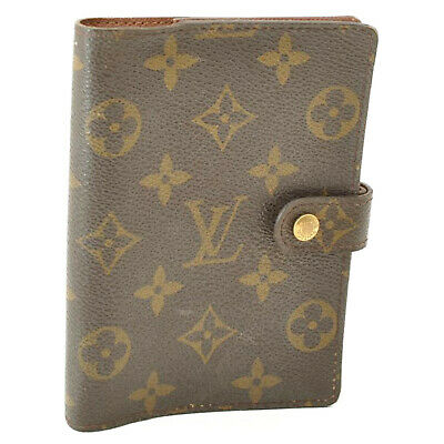 LOUIS VUITTON Monogram Agenda PM Day Planner Cover R20005 LV Auth oh051