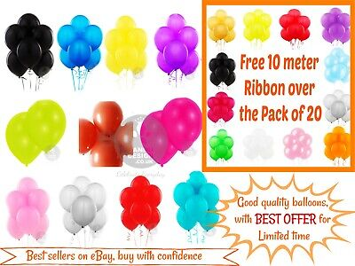 5-100 LARGE PLAIN BALONS BALLONS helium BALLOONS Quality Birthday Theme Balloons