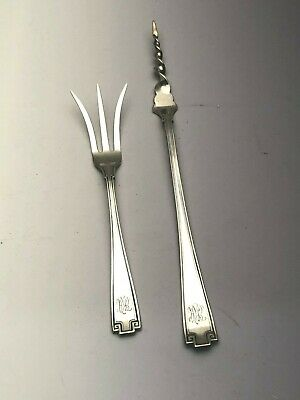 Etruscan by Gorham Sterling Silver Butter Pick & Lemon Fork, gently used
