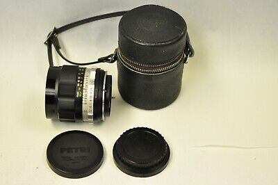 Petri 35mm f2.8 lens with caps and case