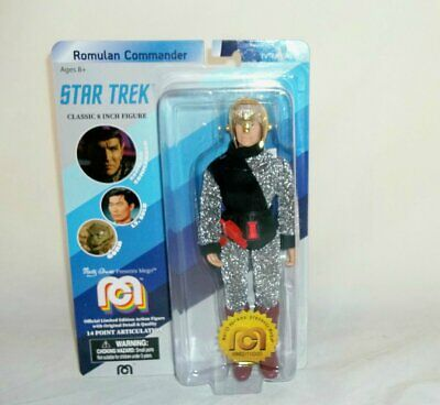 """Mego Action Figures 8"""" Star Trek  Romulan Commander Limited Edition Collectible"""