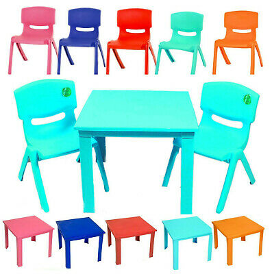 Children Table an chairs set for Study Play Outdoor Indoor Plastic Strong
