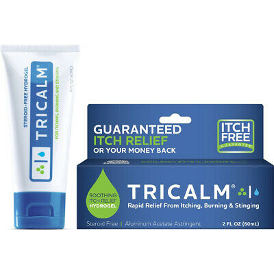 TriCalm Soothing Relief From Itching Burning Stinging 2 oz Hydrogel