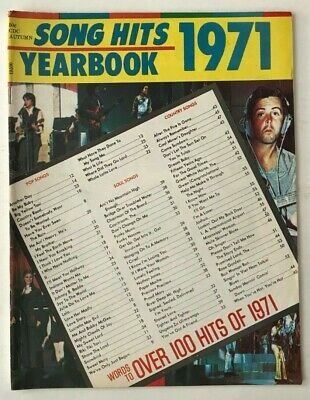 SONG HITS YEARBOOK No 13TH EDITION 1971 GRAND FUNK RAILROAD / JERRY BUTLER +MORE