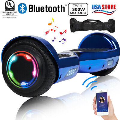 "6.5"" Hoverboard Bluetooth 2 Wheel Electric Self Balance Scooter with Bag Kid Car"