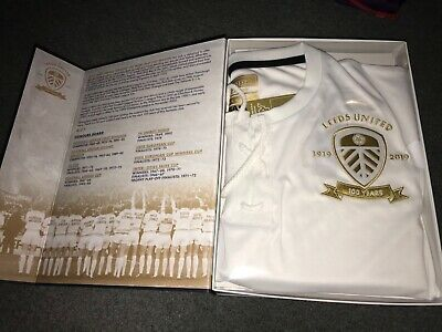 Unopened Leeds United Centenary Limited Edition Shirt And Book Utd New