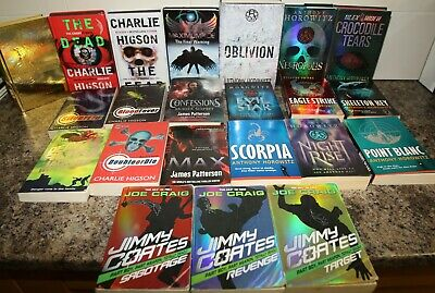 22 Older Children's Chapter Reading Books Alex Rider, Young James Bond Thrillers