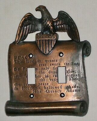 John Quincy Adams Copper Colored Eagle Wall Switch Cover Freedom Liberty