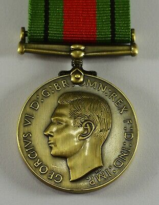 Superb Bronze WW2 Defence/Campaign Military Medal 1939-1945 & Ribbon, George VI