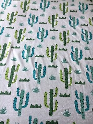 Addison Belle Crib Fitted Sheet Cactus Succulent Baby Toddler Cotton