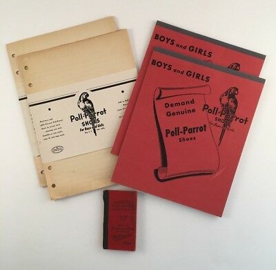 Poll-Parrot Shoes Advertising Paper Tablet Dictionary Vintage School Memorabilia