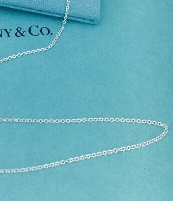 "Tiffany & Co 20"" Sterling Silver Chain Necklace NEW"