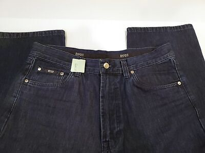 BOSS Hugo Boss Alabama Select Line Mens Dark Wash Jeans Size 34 x 32 Made in It