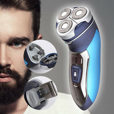 Men's Electric Rotary Shaver Rechargeable 3D Triple Floating Head Trimmer