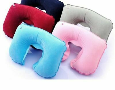 Inflatable Travel Portable Neck Pillow U Shaped Cushion Support Car Flight Head